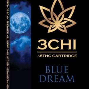 3Chi Delta 8 THC Vape Cartridge - Blue Dream 1 ml