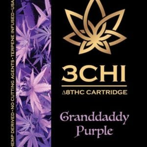 3Chi Delta 8 THC Vape Cartridge - Granddaddy Purple 1 ml