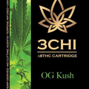 3Chi Delta 8 THC Vape Cartridge - OG Kush 1 ml