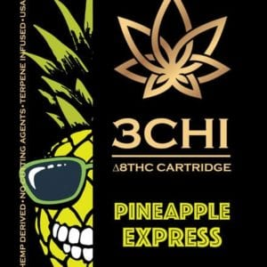 3Chi Delta 8 THC Vape Cartridge - Pineapple Express 1 ml