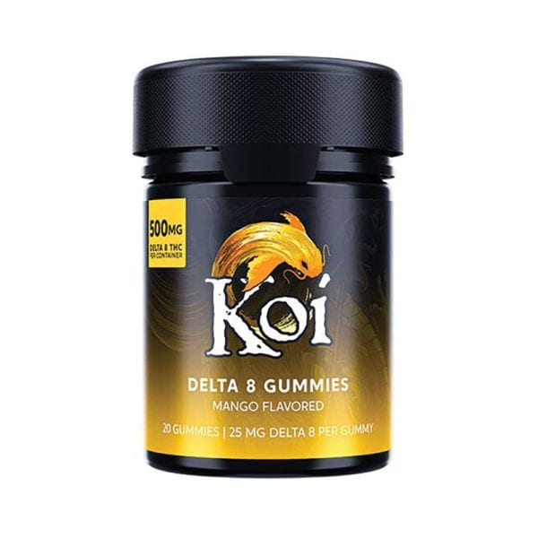 Koi Delta 8 Gummies – Mango 25mg 20 Count
