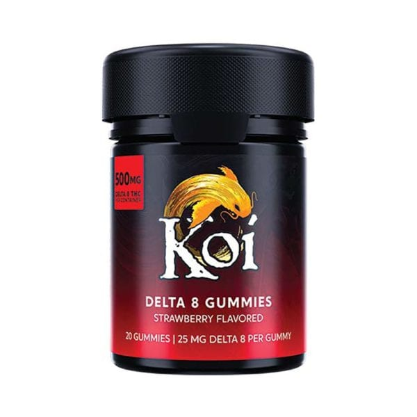 Koi Delta 8 Gummies – Strawberry 25mg 20 Count