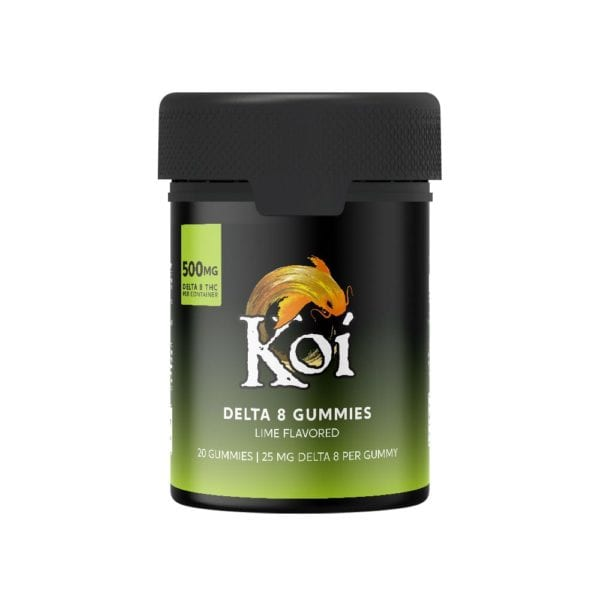 Koi Delta 8 Gummies - Lime 25mg 20 Count