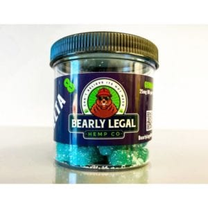 Bearly Legal Hemp Co Delta 8 THC Gummies – Pineapple 25mg 24 Count