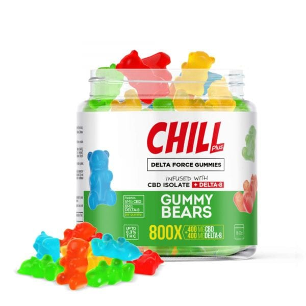 Chill Plus Delta 8 Delta Force Gummy Bears - 800X 400mg