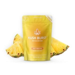 Kush Burst Delta 8 THC Gummies - Pineapple Punch 50mg 10 Count