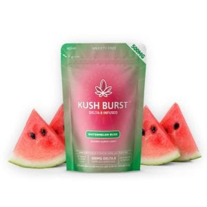 Kush Burst Delta 8 THC Gummies - Watermelon Bliss 50mg 10 Count
