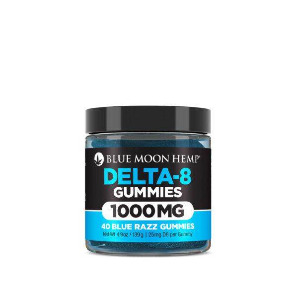 Blue Moon Hemp Delta 8 Gummies - Blue Razz 25mg 40 Count