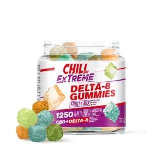 Chill Plus Extreme 20mg Delta 8 Gummies - Fruity Mix - 1250X 50 Count