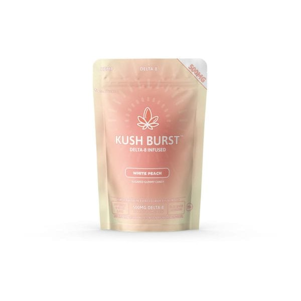 Kush Burst Delta 8 THC Gummies - White Peach 50mg