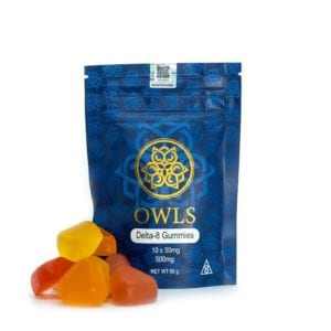 Owls Delta 8 THC Gummies - Assorted Flavors 50mg 10 Count