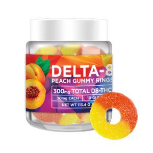 No Cap Hemp Co Delta 8 THC Gummy Rings - Peach 30mg 10 Count