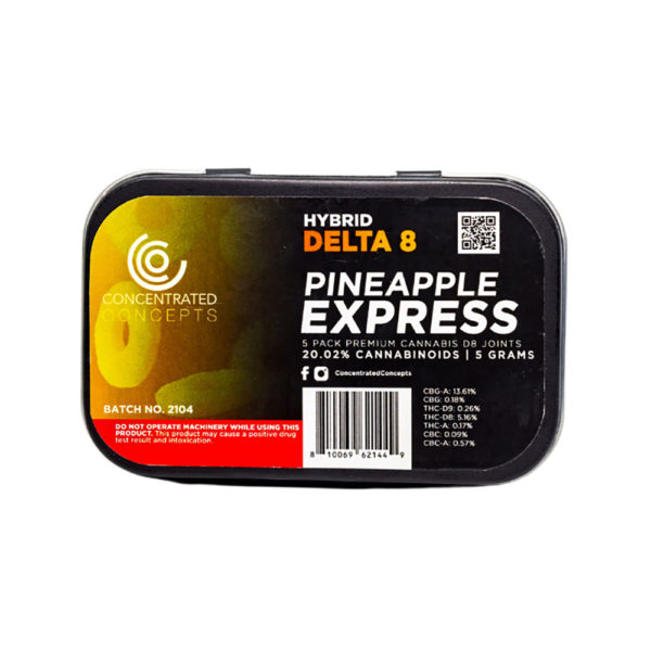 Concentrated Concepts Delta 8 THC Preroll - Pineapple Express 200mg 5 Pack