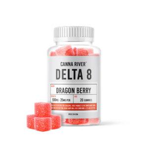 Canna River Delta 8 Gummies - Dragon Berry 25mg 20 Count