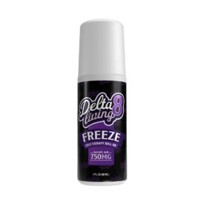 Delta 8 Living Freeze Cold Therapy Roll-On 750mg 3oz