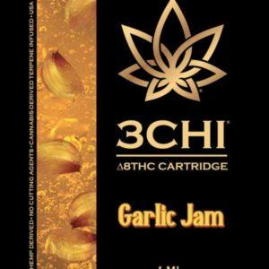 3Chi Delta 8 THC Vape Cartridge - Garlic Jam 1ml