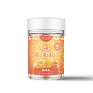 Kush Burst Delta 8 Nano Gummies - OMG Orange Mango Guava 50mg 10 Count